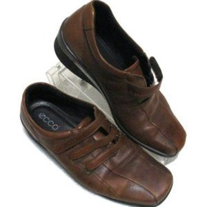 Ecco Light Leather Brown Comfort Shoes 39 US 8 8.5